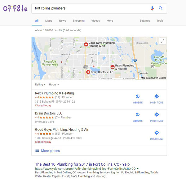 Local SEO Fort Collins Colorado