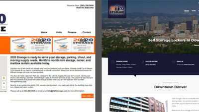Denver Storage Company Website Design