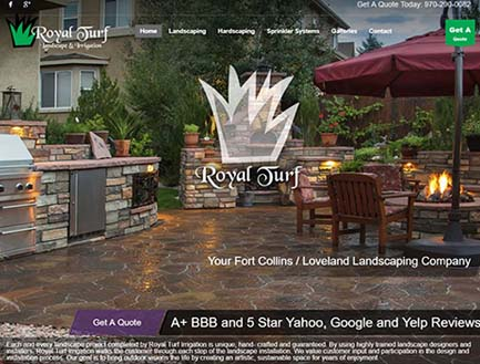 fort collins web design royal turf
