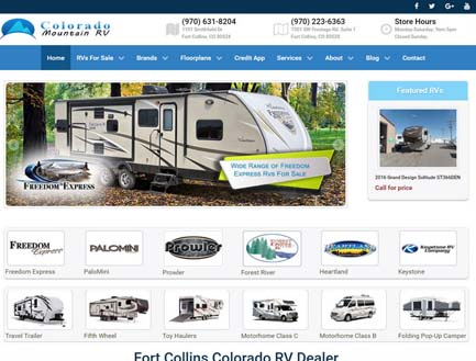 fort collins website design colorado mountain rv